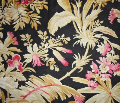 BEAUTIFUL 19th CENTURY FRENCH COTTON c1870s, ORCHIDS, PROJECTS, REF