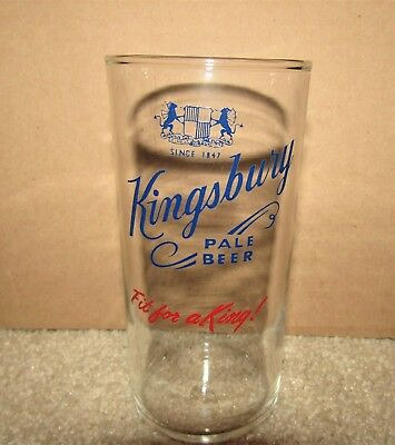 KINGSBURY PALE BEER 1950's  2 color shell glass SHEBOYGAN, WISCONSIN