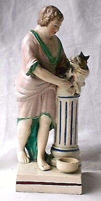 Late C18Th/early C19Th Staffordshire Pearlware Figure Elijah Sacrificing A Goat