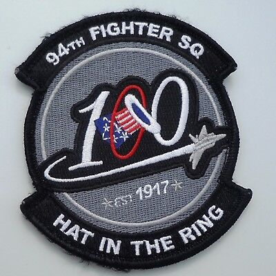 Usaf Military Patch F22 Raptor 94Th Fighter Squadron 100 Tears