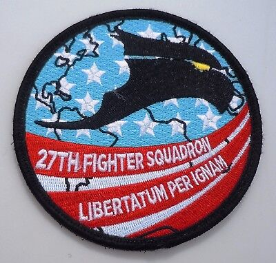 Usaf Military Patch F22 Raptor 27Th Fighter Squadron Tsp