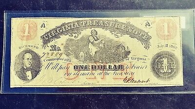 Virginia Treasury Note 1 Dollar