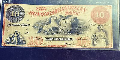 The Monongahela Valley Bank 10 Dollars