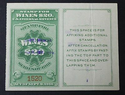 CKStamps: US Revenue Wines Stamps Collection Scott#RE56 Used Cut Cancel