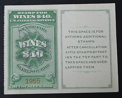 CKStamps: US Revenue Wines Stamps Collection Scott#RE57 Used CV$70