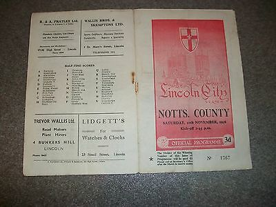 LINCOLN CITY v NOTTS COUNTY signed by 6 Notts County players  1956/7