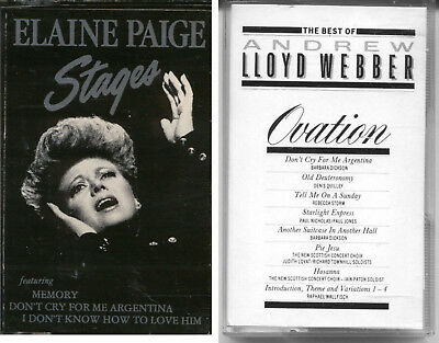 Audio Cassettes X 2 - Songs From Musicals Elaine Page & Ovation