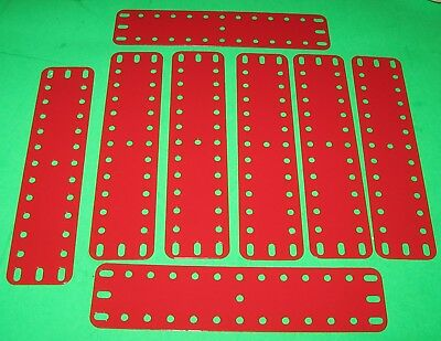 "MECCANO COMPATIBLE METALLUS PARTS FLEXIBLE PLATES 6-1/2"" x 1-1/2"""