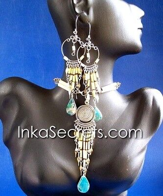 30 Sets Bamboo necklace earrings w/stone