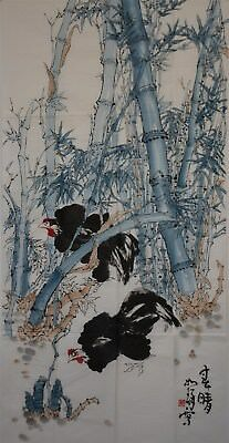 Superb Large Chinese Painting Signed Master Cui Ruzhuo No Reserve Unframed H9323