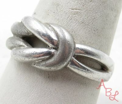 Sterling Silver Vintage 925 Twist Knot Band Ring Sz 9.5 (4.6g) - 575646