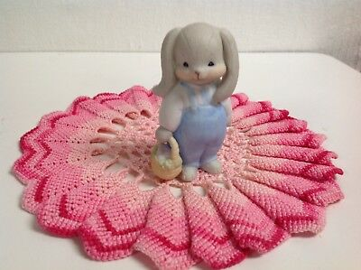 """Lucy And Me """" Rosie Bunny Boy With Basket"""" Bear 1984 Only Lucy Rigg Enesco"""