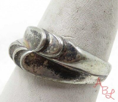 Sterling Silver Vintage 925 Modernist Band Ring Sz 8.25 (4.7g) - 575399