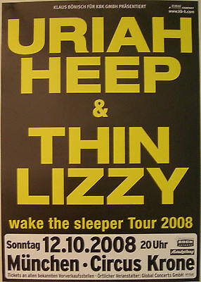 Uriah Heep Thin Lizzy Concert Tour Poster 2008