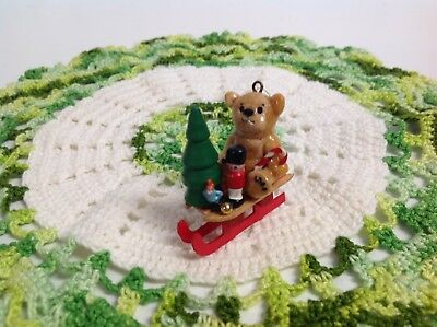 """Lucy And Me Hand Made """"dough Art Bear Ornament"""" Prior To 1978 Enesco Lucy Rigg"""