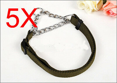 Practical Collars 50-70 CM Army Green Nylon Leash Suite Wholesale Lots 5 PCS