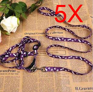 Practical Bust 26*40 CM Wide 0.8 CM Purple PP Leash Set Wholesale Lots 5 PCS