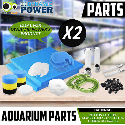 Aquarium Parts for Canister Pump - UV Light Glass Sponge Filter Hose Media Kit