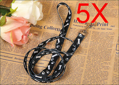 Paw Print Model L 120*W 1.5 CM Navy Blue PP Leash Rope Wholesale Lots 5 PCS