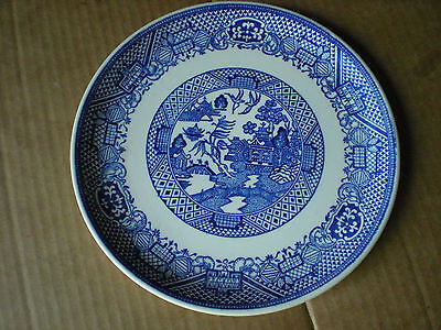 "Vintage Blue Willow  9 1/4"" Dinner Plate"