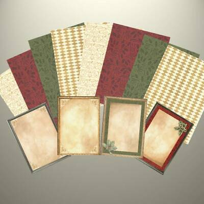 Creative Memories - HOLLY DAZZLE - 4 X JOURNAL BOXES - 8 X PHOTO MATS