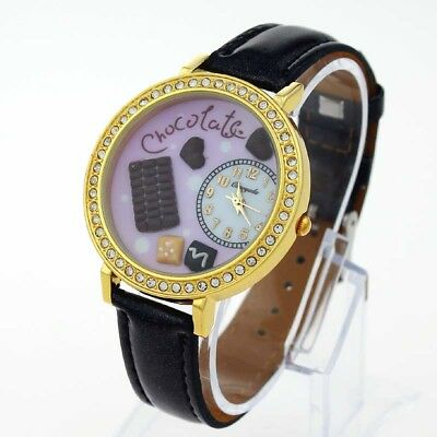 Brand New Fashion Chocolate DIY Handmade Lady Polymer Clay Quartz Wristwatch N14