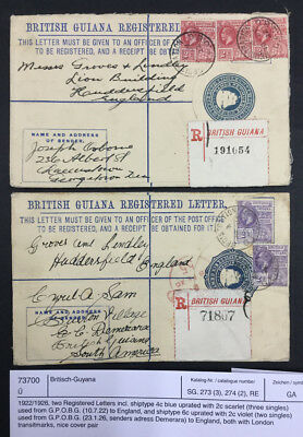 Momen: British Guiana # Covers $60 Lot #7189