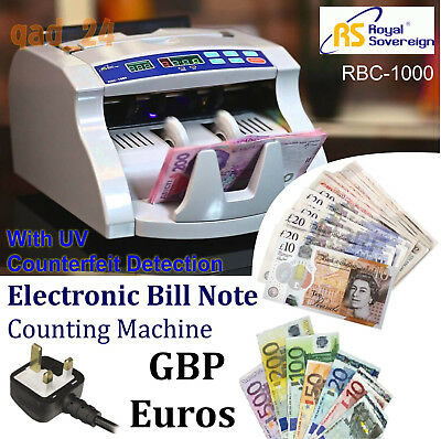 Automatic Bank Bill Counter Currency UV Protection Fake Note Detector Money Cash