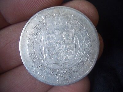 SILVER 1823 WILLIAM IIII half crown IN F GRADE COIN A GOOD COLLECTORS ITEM