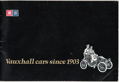 Vauxhall cars since 1903. 1973 revised booklet