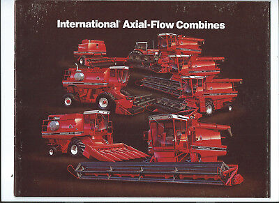 IH INTERNATIONAL AXIAL-FLOW COMBINES 36 page sales brochure catalogue May 1981