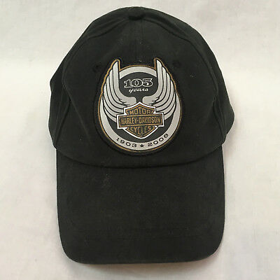 Harley Davidson Black 105 Years Cap Hat, One Size