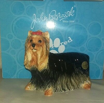 John Beswick Pampered Pooches Yorkshire Terrier New Boxed Jbpp4