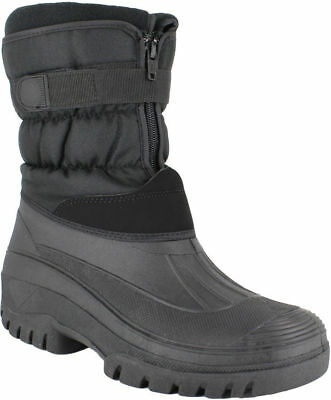 Mens Thinsulated Winter Snow Moon Mucker Ski Waterproof Wellingtons Boots Shoes