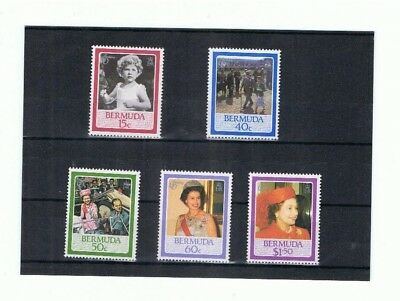 Bermuda Queens Birthday 1986 Mnh Set Of 5 Stamps