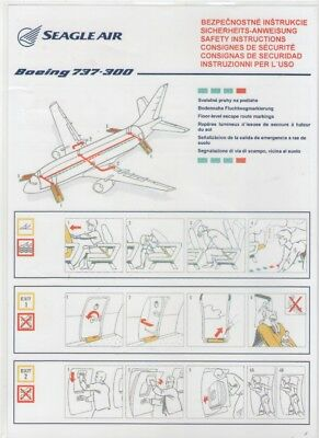 SEAGLE AIR    Boeing 737-300   Safety Card
