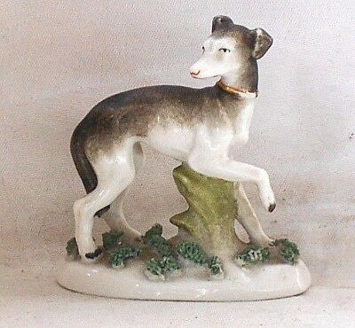 C19Th  Greyhound Or Whippet On A Base