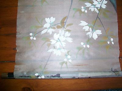 Japanese Hand Painted on Silk Scroll  30 INCHES Long 10 Inches wide.Delicate.
