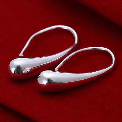 Xmas Deluxe Valentines Gift Jewelry 925Silver Lady Twisted Big Earring