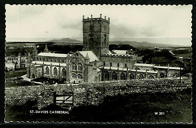 Real Photo Postcard - St David's Cathedral - Pembrokeshire Wales