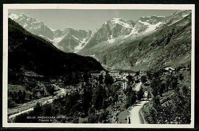 Real Photo Postcard - Macugnaga Village - Piedmont Italy