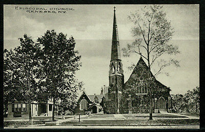 Early Postcard -  Episcopal Church Geneseo - New York USA