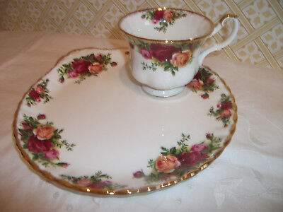 Royal Albert Bone China Old Country Roses Cup And 'tennis' Saucer / Plate