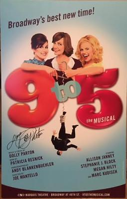 Dolly Parton Signed 9 To 5 Broadway Poster Windowcard