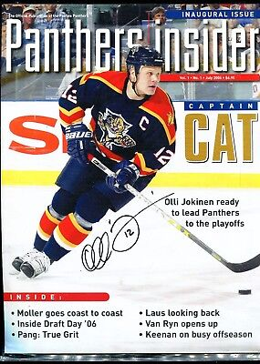 Olli Jokinen Signed INAUGURAL ISSUE FLORIDA PANTHERS GROWL and Letter
