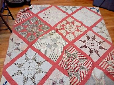 Large Antique Quilt - Completely Hand Sewn and Quilted