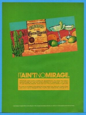 1992 Jose Cuervo Especial Tequila Colorful Desert It Ain't No Mirage Print Ad