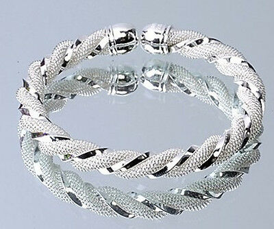 Wholesale discount silver jeweley Distort Bangle Bracelet gift