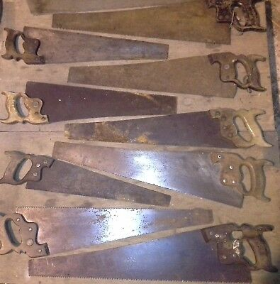 Joblot Old Woodworking Hand Saws Vintage Carpenters Saw To Clear