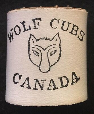 Vintage Boy Scouts of Canada Wolf Cubs Woggle Necker Slider